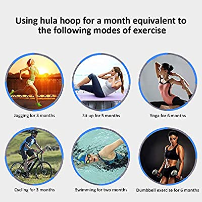 Hoola Hoops for Adults Weight Loss - Weighted Hoola Hoop,Jump Rope Weighted Exercise Hoola Hoops for Kids,Hoola Hoops Bulk,Professional Soft Fitness Hoola Hoops Skipping Rope - Detachable Design(Blue): Sports & Outdoors