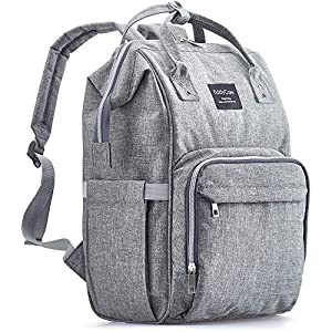 KiddyCare Diaper Bag Backpack – Multi-Function Baby Bag, Maternity Nappy Bags for Travel, Large Capacity, Waterproof…