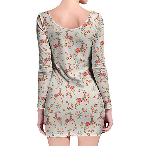 Queen of Cases - Robe - Motifs - Manches Longues - Femme rose rose taille unique