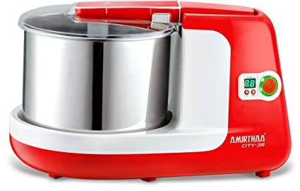 Amirthaa City-3R 2.5 L Wet Grinder (Tomato Red and White)