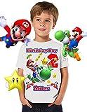 Mario Birthday Shirt, ADD any name and any age, Birthday Boy Shirt, Mario & Yoshi Birthday Shirt, FAMILY Matching Shirts, Super Mario Shirt, Birthday Shirt Super Mario, Yoshi Shirt