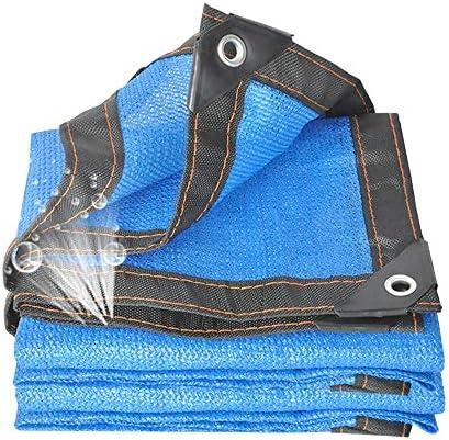 CAICOLOUR オーニング 家庭用ブルー8ピンサンシェードネット厚く日焼け止めメッシュ断熱ネット用プール屋外バルコニーシェード UVカット シェード セイル (色 : 青, サイズ さいず : 5x5m)