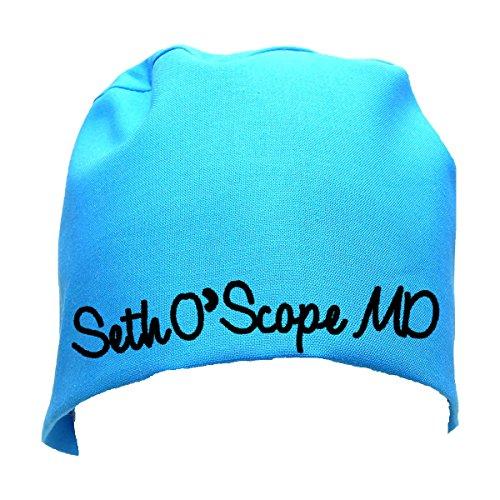 S1FM! Personalized Scrub Cap, Blue, Handmade, Med, BK Dbl Cotton