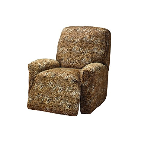 Madison Stretch Jersey Leopard Large Recliner Slipcover, Geometric
