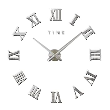 Fas1 Moderne Diy Große Wanduhr Big Armbanduhr Aufkleber 3d Spiegel