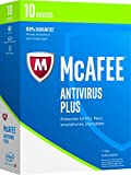 Software : McAfee 2017 Antivirus Plus - 10 Devices