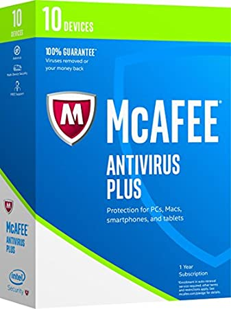 McAfee 2017 AntiVirus Plus-10 Devices