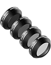 Neewer 4 Pieces Filter Kit for DJI Mavic Pro Drone Quadcopter Includes: CPL, ND4, ND8 and ND16 Filter, Made of Multi Coated Waterproof Aluminum Alloy Frame Optical Glass (MC-16)