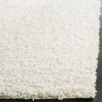 Safavieh Athens Shag Collection SGA119B White Area Rug (3 x 5)