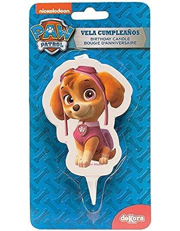 dekora 346171 Vela de Cumpleaños 2D Skye Patrulla Canina, Cera, 7.5 x 4 x