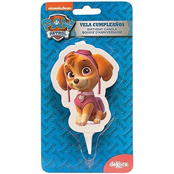 dekora 346171 Vela de Cumpleaños 2D Skye Patrulla Canina ...