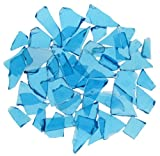 Turquoise Stained Glass Cobbles-2.5 ounces