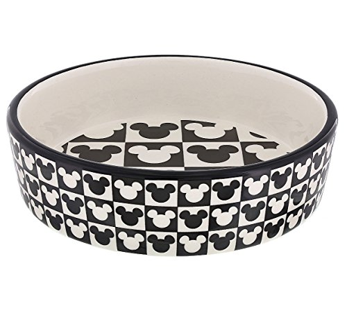 Mouseketeer Halloween Costume (Disney Parks Mickey Mouse Checkered Icon Small Size Ceramic Pet Dish Dog Cat)