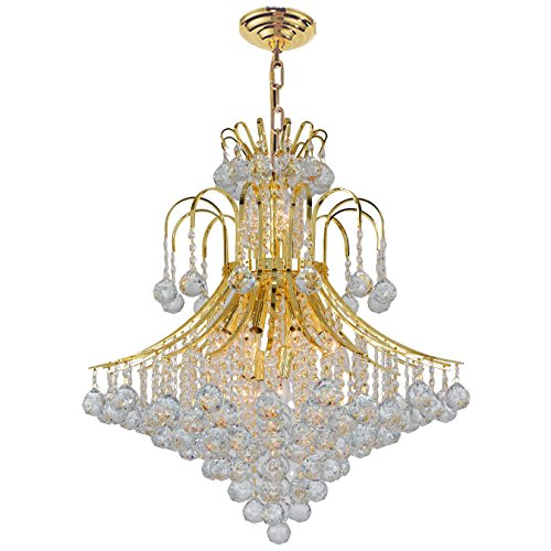 Collection 15 Light Chandelier (Worldwide Lighting Empire Collection 15 Light Gold Finish Crystal Chandelier 25