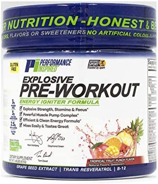 Performance Inspired Nutrition Explosive Pre-Workout, Tropical Fruit Punch, 1.49 Lb – Style Prepun