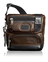 TUMI Alpha Bravo Barstow Leather Crossbody, Dark Brown, One Size
