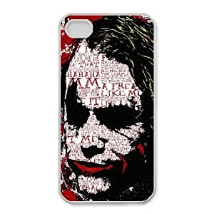 Personalized Durable Cases iPhone 4,4S White Phone Case Jcgbg Joker Heath Ledger Protection Cover