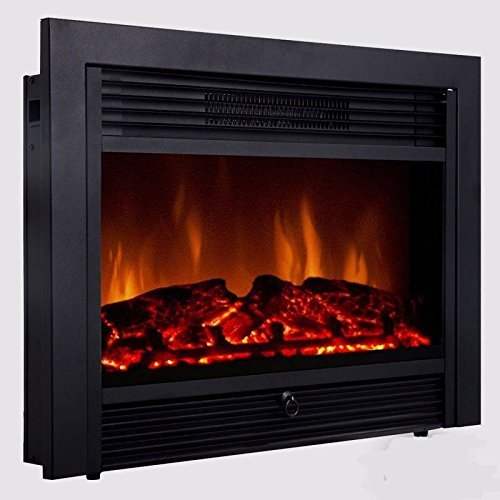 "28.5"" Embedded Fireplace Electric Insert Heater Glass View Log Flame Remote Home from Unbranded*"