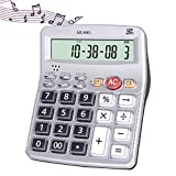 EIGIIS Musical Function Calculator 12-Digits LCD Display Calculator with Alarm Clock and Voice Reading Popular in the Youtube (Style 2)