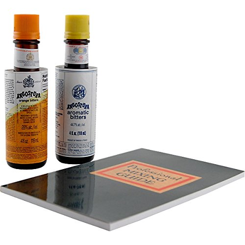 The Angostura Cocktail Bitters & Recipe Book Gift Set by KegWorks