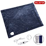 XXL Electric Heating Pad, 20'x24' Large Size with Auto Shut off, MARNUR Flannel Fast-heatingWarmerWrapswith3TemperatureSettings,ComfyforSelfWarmingBackShoulderBody Relief