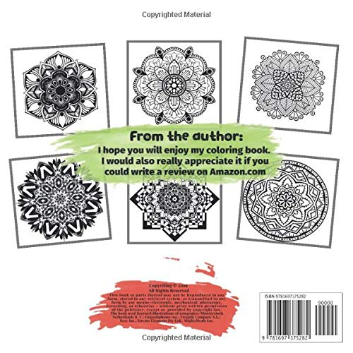 Adult Coloring Book for Women 100 Mandalas – Never regret. If it's good, it's wonderful. If it's bad, it's experience.