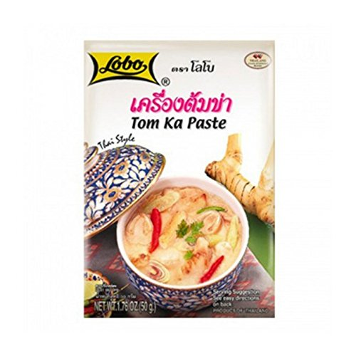 6Pcs Thai soup LOBO TOM KHA PASTE SEASONING 50G