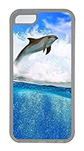 iPhone 5c case, Cute Dolphin iPhone 5c Cover, iPhone 5c Cases, Soft Clear iPhone 5c Covers