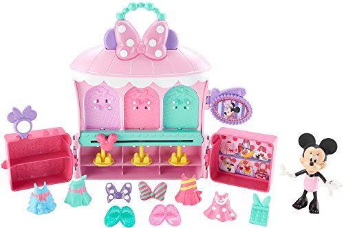 Fisher-Price Disney Junior Minnie Sparkle 'n Spin Fashion Bow-tique Playset (Minnie Outfit)