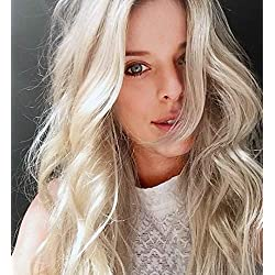 Sunny 24inch Double Drawn Tape in Hair Extensions Remy Human Hair Color #60 Platinum Blonde Seamless Real Human Hair 20PCS 50G Glue in Hair Extensions