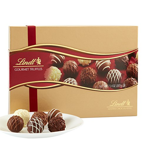 Lindt LINDOR Assorted Chocolate Gourmet Truffles, Gift Box, Kosher, 7.3 Ounce]()