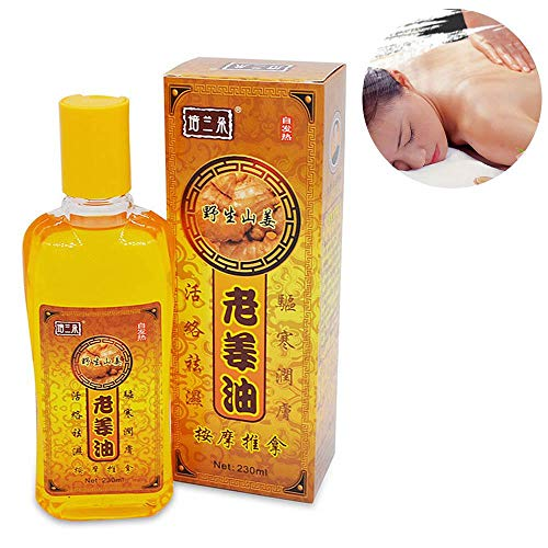 LEEGOAL Drainage Ginger Oil,100% Pure Natural Ginger Oil Massage Scrubbing Oil Promote Blood Circulation, Relieve Muscle Soreness 230ml