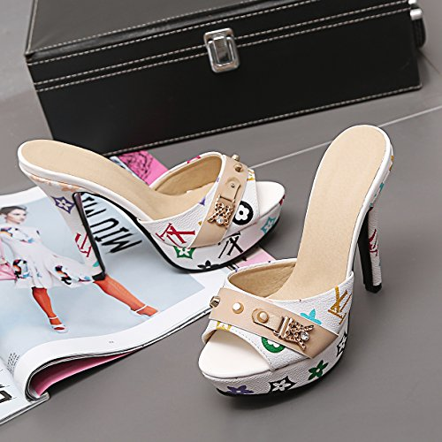 Mules JYshoes Mules Femme JYshoes Weiß RPWEfqHcwE