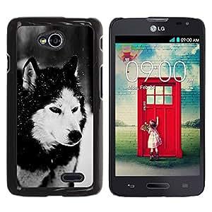 LECELL -- Funda protectora / Cubierta / Piel For LG Optimus L70 / LS620 / D325 / MS323 -- Dog Siberian Husky Alaskan Malamute Winter Pet Animal --