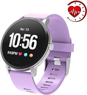 YoYoFit Fitness Armband Tracker, IP67 Wasserdicht mit GPS Schrittzähler Uhr Herzfrequenz mit Pulsmesser Blutsauerstoff Wetter Musik Steuerung Stoppuhr für Kinder Damen Herren Geschenk