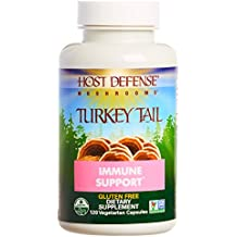 Host Defense - Turkey Tails Mushroom Capsules, Naturally Supports Immune Response, Healthy Digestion, and Hormone Balance, Non-GMO, Vegan, Organic, 120 Count