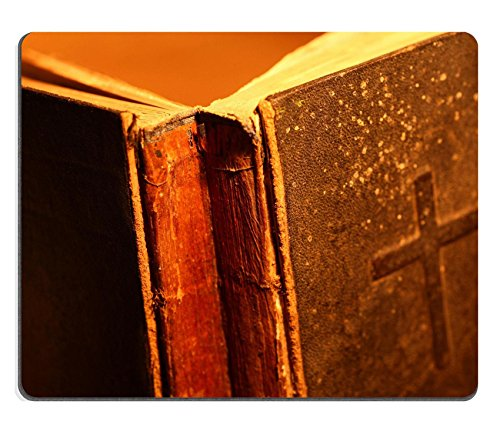 Liili Mouse Pad Natural Rubber Mousepad Close up of old Holy bible book Photo 11576125