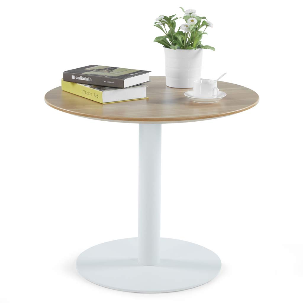 Gentil Amazon.com   Sunon D27.5u0027u0027 X H23.6u0027u0027 Round Cafe Table With White Pedestal  Base Small Round Table For Pub/Conference/Living Room (Virginia Walnut)    Tables