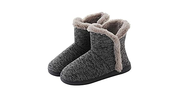 Chengzuoqing Invierno Zapatillas Impresión Interior Zapatillas Zapatos botín Inicio Botas de Invierno cálido casa Botines para Hombres Mujeres Damas niñas ...