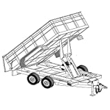 Hydraulic Dump Trailer Blueprints (12' x 6'4'' - Model 12HD)