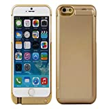 iPower Factory™ iPhone 6 7000mAh External Battery Charger Case Portable Charger Backup Power Bank Rechargeable Power Case with Kickstand (Gold)