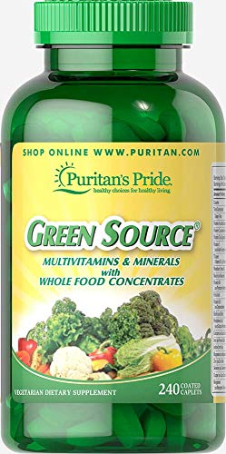 Puritans Pride Green Source Multivitamin and Minerals, 240 Count (Best Multivitamin And Mineral)
