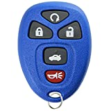 key for pontiac g6 blue - KeylessOption Keyless Entry Remote Start Control Car Key Fob Replacement for 22733524-Blue