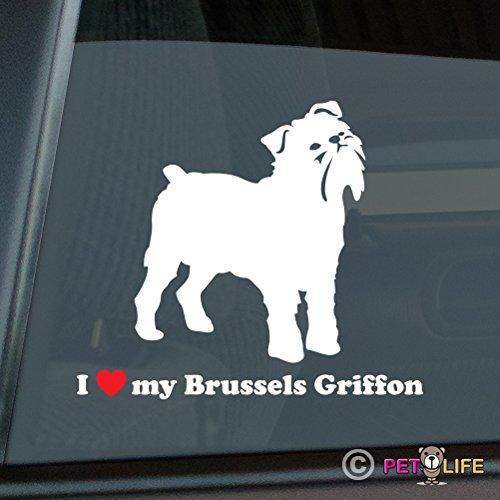 I Love My Brussels Griffon Sticker Vinyl Auto Window bruxellois