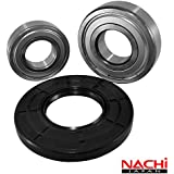 "Nachi High Quality Front Load Frigidaire Washer Tub Bearing and Seal Kit Fits Tub 131525500 (5 year replacement warranty and full HD ""How To"" video included)"