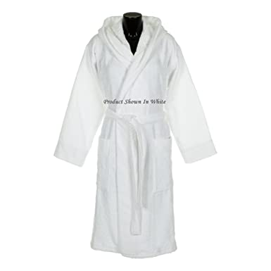 abe708f5c4045 Spa & Resort 14oz Hooded Terry Bathrobe. 5 Colors. Heavy 3.5lbs Dry.  (Black) at Amazon Men's Clothing store: Hooded Robe