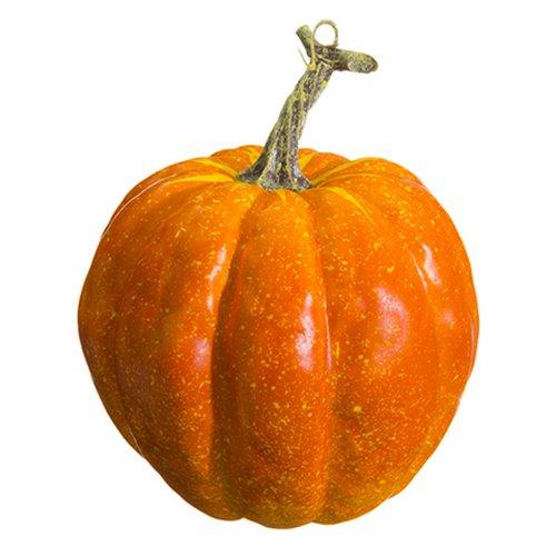 6.5''Hx5.5''W Artificial Weighted Pumpkin -Orange (pack of 12) by SilksAreForever