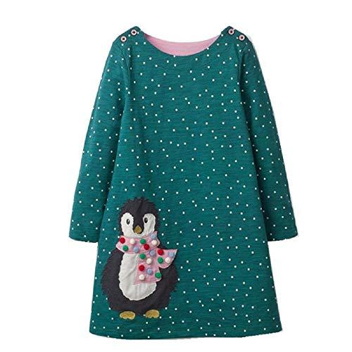 Used, FreeLu Girls Christmas Dresses Longsleeve Cartoon Dress for sale  Delivered anywhere in USA