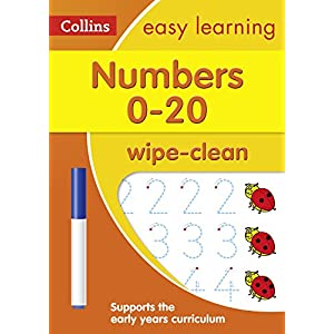 Numbers 0-20 Age 3-5 Wipe Clean Activity Book: Reception Maths Home Learning and School Resources from the Publisher of…