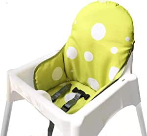 IKEA Antilop Highchair Seat Covers & Cushion by Zama, Washable Foldable Baby Highchair Cover IKEA Childs Chair Cushion (Green)